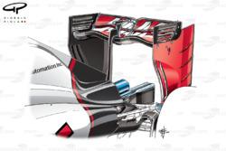 Alerón trasero del Haas VF-16 en el GP de Italia