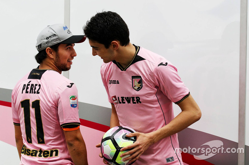 Sergio Perez, Sahara Force India F1; Esteban Ocon, Sahara Force India F1