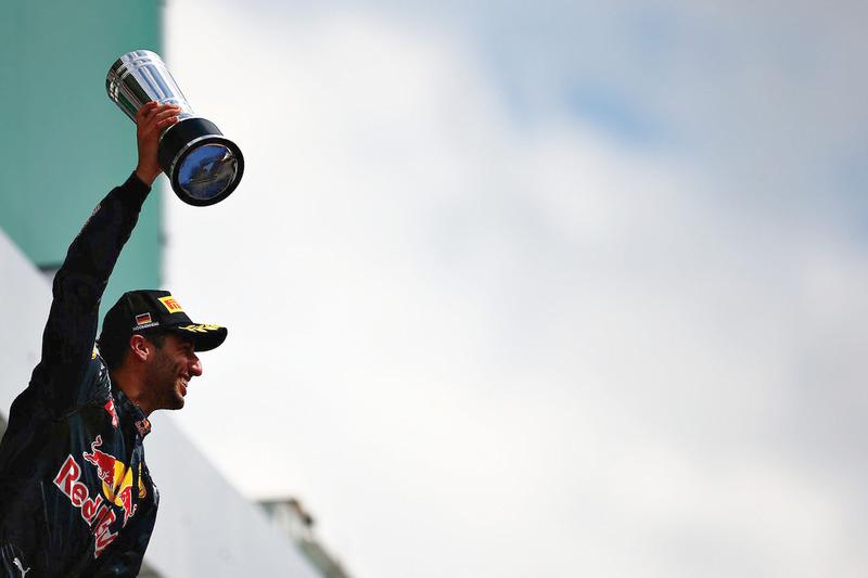 Подиум: второе место - Даниэль Риккардо, Red Bull Racing