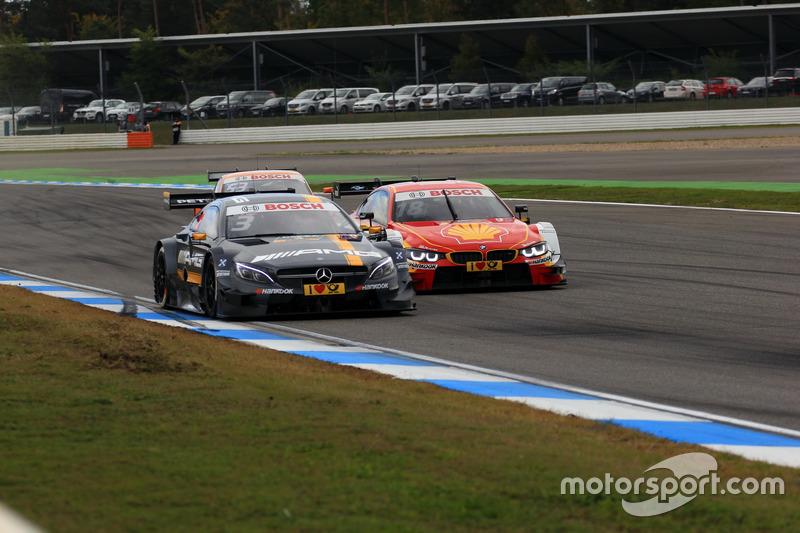 Paul Di Resta, Mercedes-AMG Team HWA, Mercedes-AMG C63 DTM; Augusto Farfus, BMW Team MTEK, BMW M4 DTM