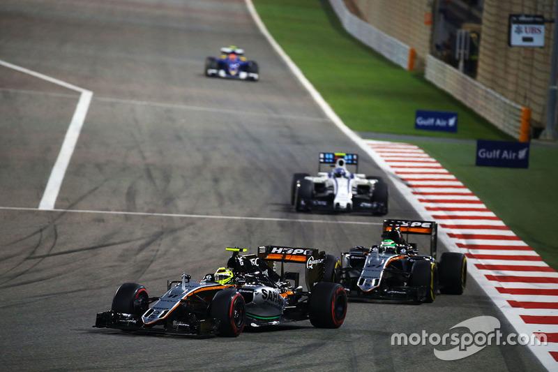 Sergio Perez, Sahara Force India F1 VJM09 y Nico Hulkenberg, Sahara Force India F1 VJM09
