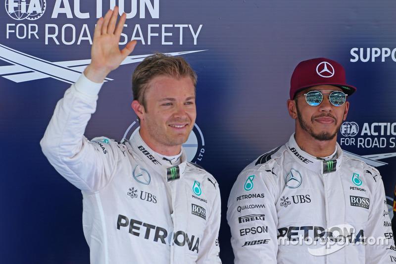 Lewis Hamilton, Mercedes AMG F1 Team, und Nico Rosberg, Mercedes AMG F1 Team