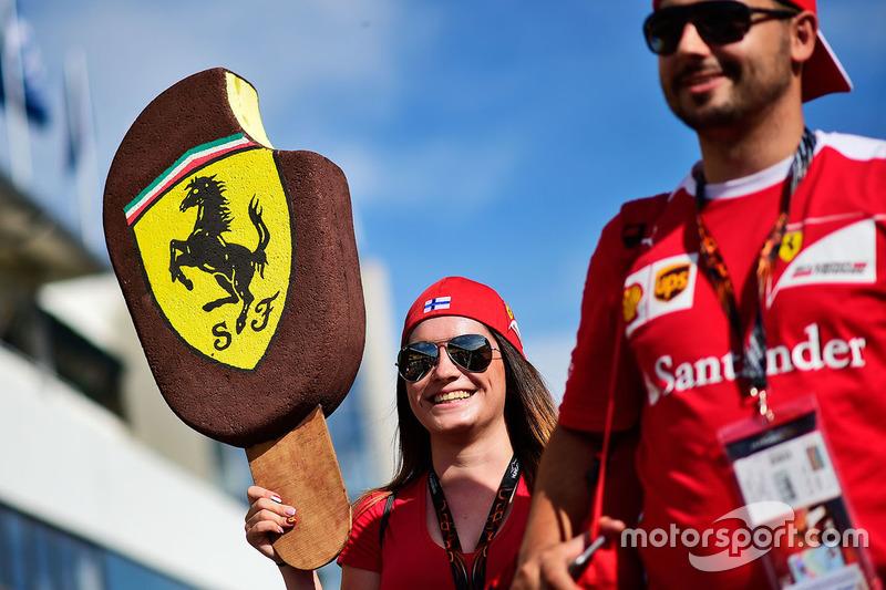 Ferrari fan's ice cream in tribute to Kimi Raikkonen, Ferrari