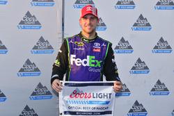 Polesitter Denny Hamlin, Joe Gibbs Racing, Toyota
