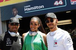 Russell Wilson, Ciara et Lewis Hamilton, Mercedes AMG F1