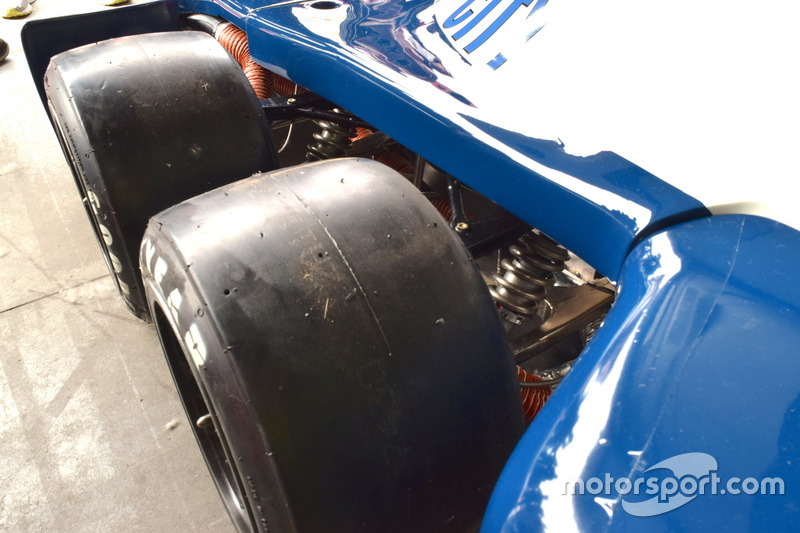 The front wheels of the Tyrrell P34