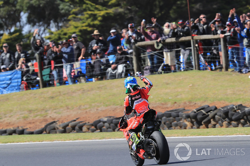 Pemenang balapan Marco Melandri, Aruba.it Racing-Ducati SBK Team