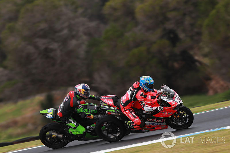Marco Melandri, Aruba.it Racing-Ducati SBK Team dan Jonathan Rea, Kawasaki Racing Team