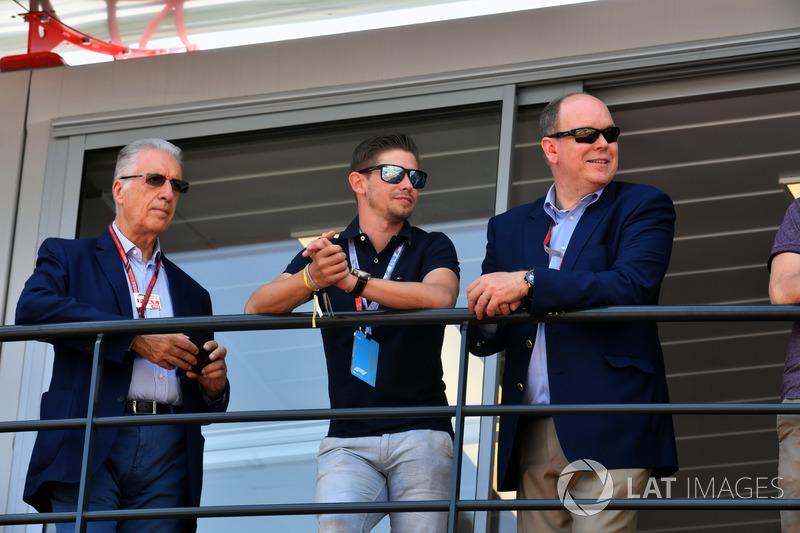 Piero Lardi Ferrari, Vice Presidente Ferrari, Casey Stoner e HSH Principe Alberto di Monaco