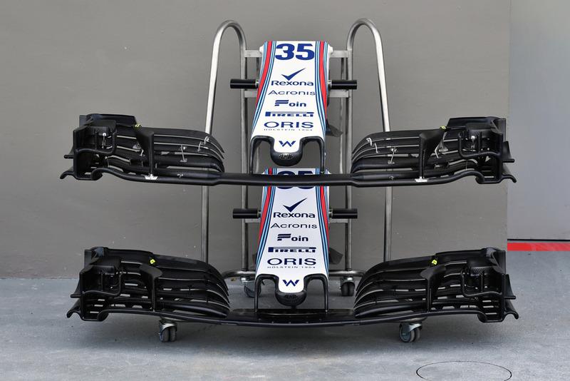 Williams FW41 nariz y alas delanteras