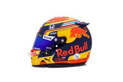 Alexander Albon helmet unveil