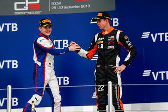Podio: il vincitore della gara David Beckmann, Trident, il terzo classificato Richard Verschoor, MP Motorsport