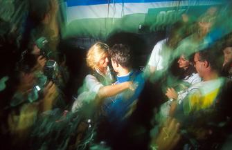 Formel-1-Weltmeister 1994: Michael Schumacher, Benetton, mit Freundin Corinna