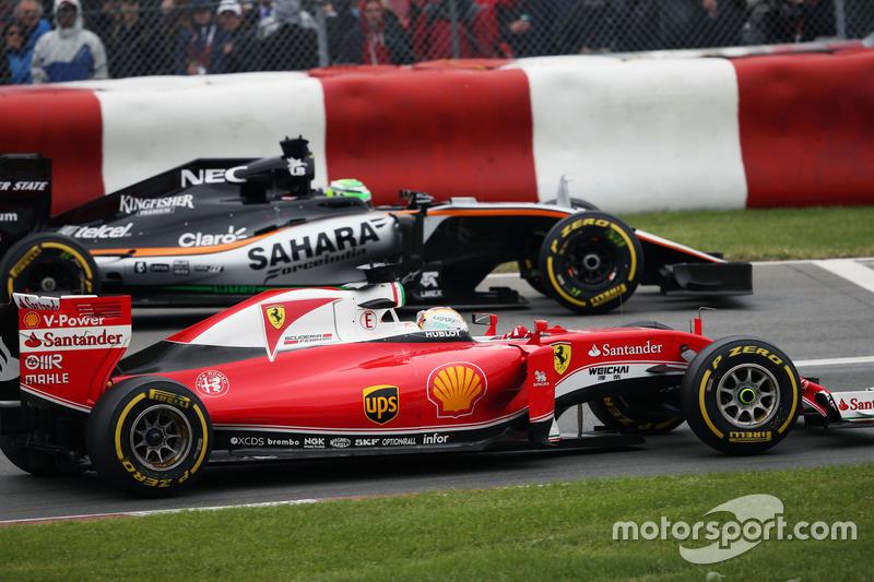 Себастьян Феттель, Ferrari SF16-H та Ніко Хюлькенберг, Sahara Force India F1 VJM09