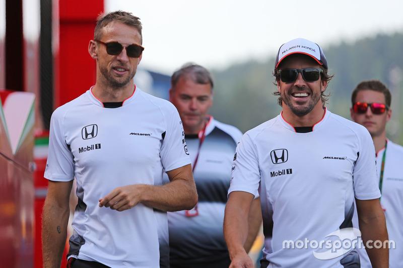Jenson Button, McLaren Honda and Fernando Alonso, McLaren Honda