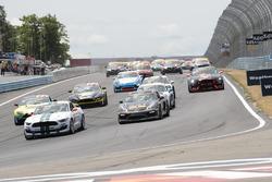 Start: #15 Multimatic Motorsports Ford Shelby GT350R-C: Scott Maxwell, Billy Johnson memimpin