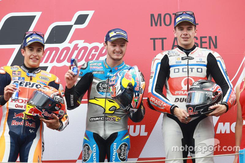 Podyum: 1. Jack Miller, Marc VDS Racing Honda, 2. Marc Marquez, Repsol Honda Team, 3. Scott Redding, Pramac Racing
