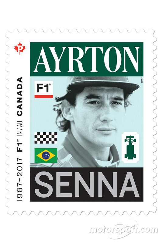 Марка с изображением Айртона Сенны