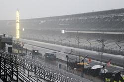 Rain falls at Indianapolis Motor Speedway