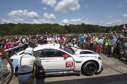 #25 BMW Team RLL BMW M6 GTLM: Bill Auberlen, Alexander Sims, Bobby Rahal, pre-race pit stop demonstration for fans
