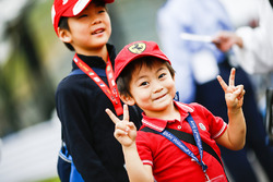 A young Ferrari fan