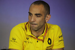 Cyril Abiteboul, Managing Director, Renault Sport F1 Team, nella conferenza stampa dei Team Principals