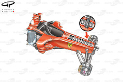 Ferrari F2005 (656) 2005 front damper exploded view