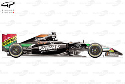Force India VJM07 side view