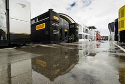 The Pirelli hospitality unit in the paddock