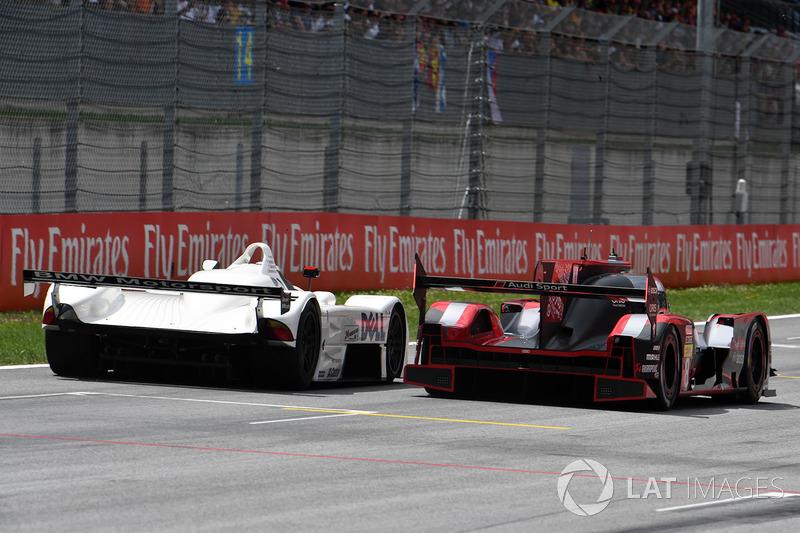 Gerhard Berger, BMW V12 LMR et Tom Kristensen, Audi R18