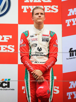 Podium: third place Mick Schumacher