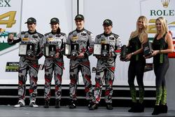 Victory lane, Northern Endurance Cup: #86 Michael Shank Racing Acura NSX: Katherine Legge, Alvaro Parente, Trent Hindman, A.J. Allmendinger