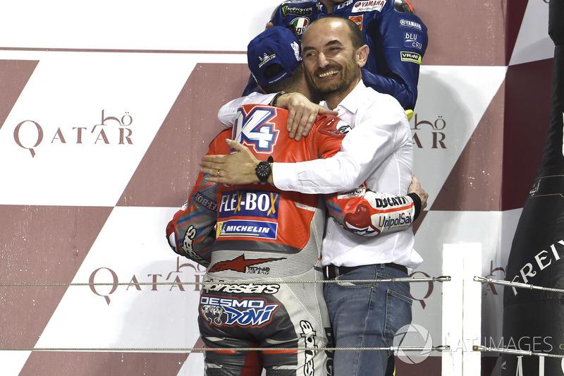 Claudio Domenicali, Ducati Team, ganador, Andrea Dovizioso, Ducati Team