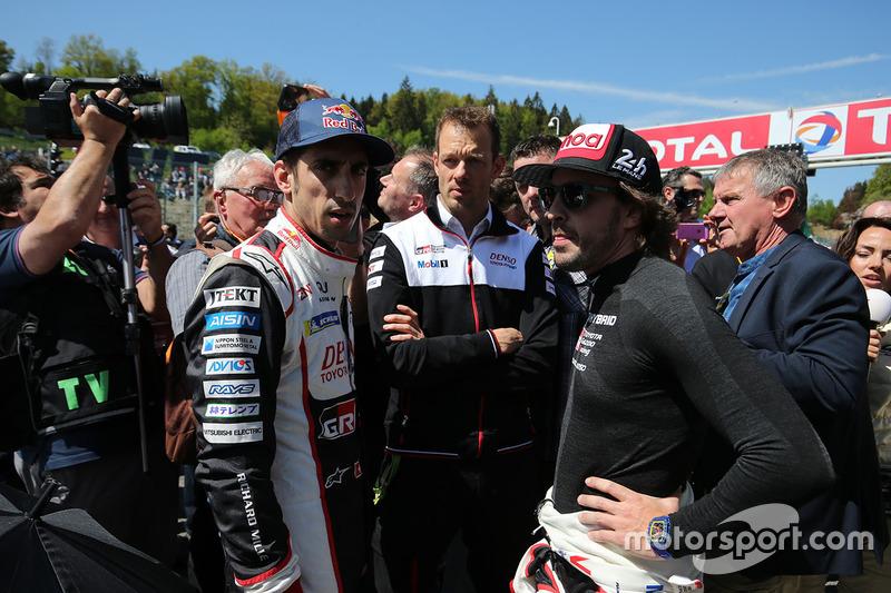 Sébastien Buemi, Fernando Alonso, Alex Wurz, Toyota Gazoo Racing
