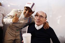 Felipe Massa, Williams F1, celebrates pole with Sir Frank Williams, Team Principal Williams F1