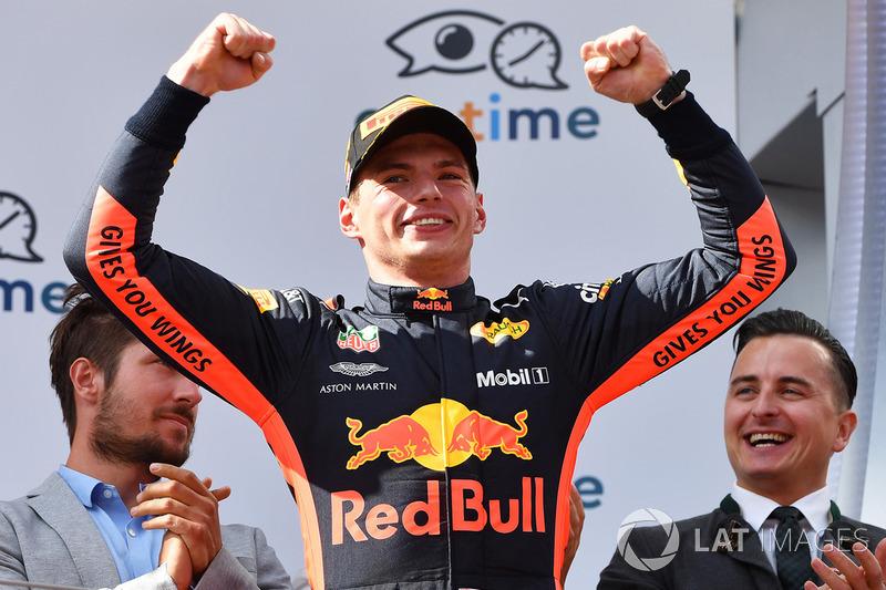 Podyum: Yarış galibi Max Verstappen, Red Bull Racing