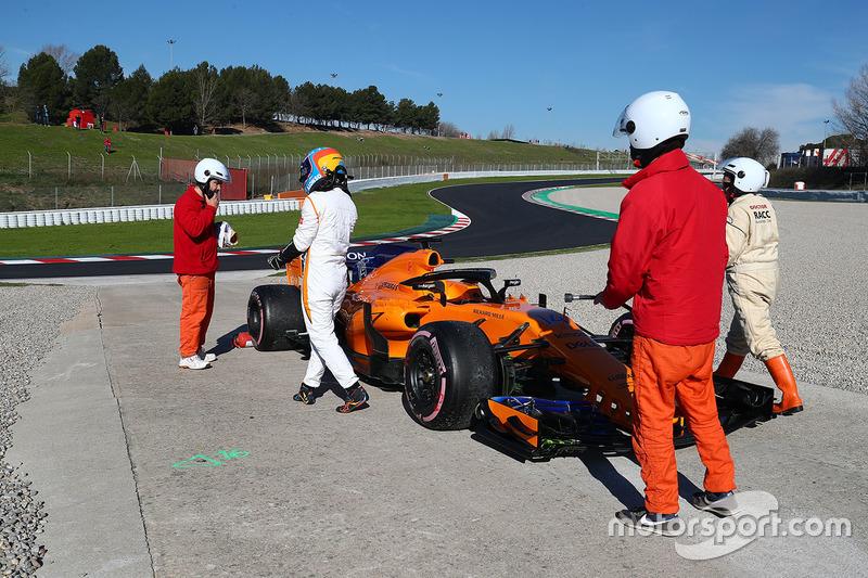 Fernando Alonso teve problemas com o turbo da unidade de seu carro.