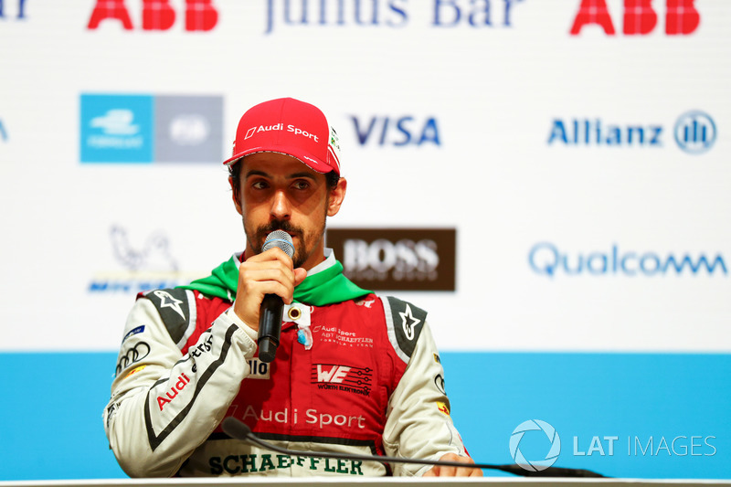 Lucas di Grassi, Audi Sport ABT Schaeffler, in the post race press conference