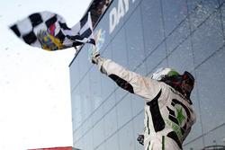 Tyler Reddick, JR Motorsports, BurgerFi Chevrolet Camaro celebrates his win