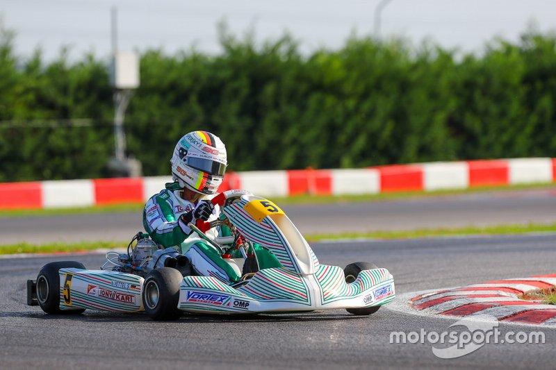 Vettel Tony Kart testi