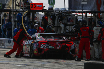 #93 Michael Shank Racing with Curb-Agajanian Acura NSX, GTD - Lawson Aschenbach, Justin Marks, Pit Stop