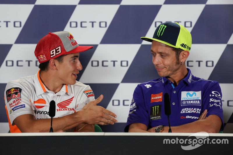Valentino Rossi, Yamaha Factory Racing, Marc Marquez, Repsol Honda Team durante la rueda de prensa