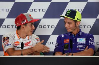 Valentino Rossi, Yamaha Factory Racing, Marc Marquez, Repsol Honda Team, en conférence de presse
