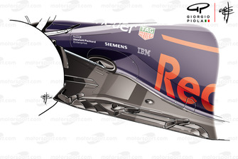 Red Bull Racing RB14 floor Mexican GP