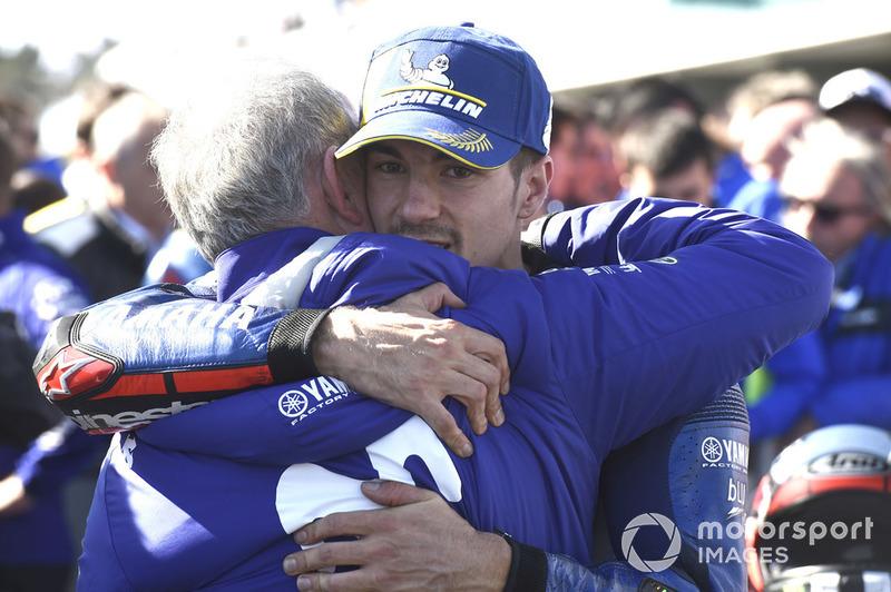 Il vincitore della gara Maverick Viñales, Yamaha Factory Racing, Ramon Forcada, Yamaha Factory Racing
