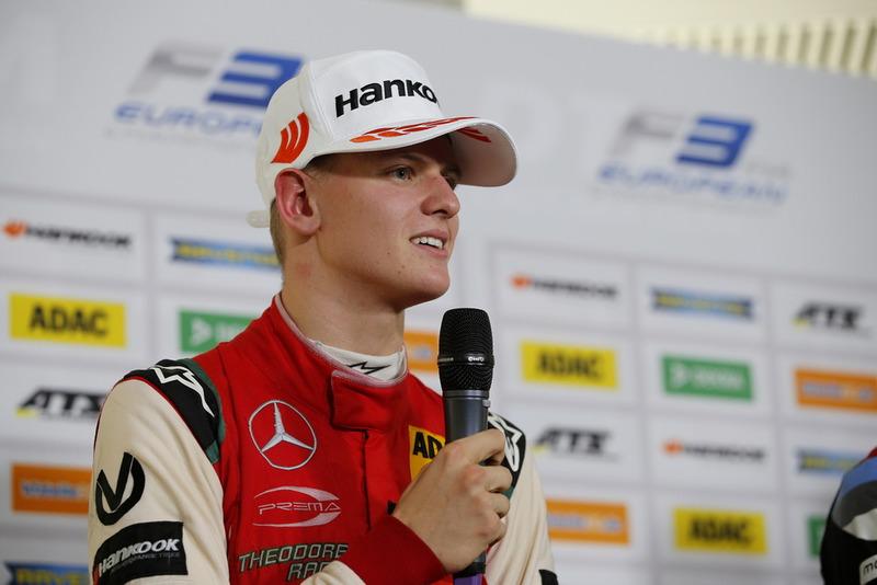 Conferencia de prensa, Mick Schumacher, PREMA Theodore Racing Dallara F317 - Mercedes-Benz