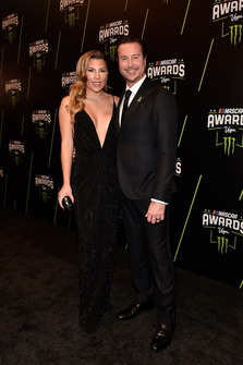 Kurt Busch, Stewart-Haas Racing, mit Ehefrau Ashley