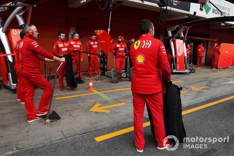 Mecánicos de Ferrari
