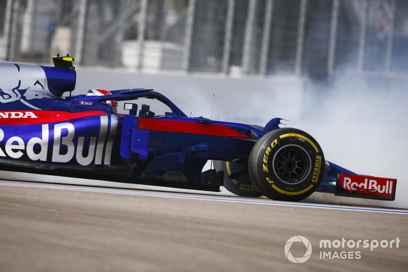 Gasly is furious by brake failure