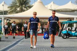 Marcus Ericsson, Sauber and Alex Elgh, Trainer